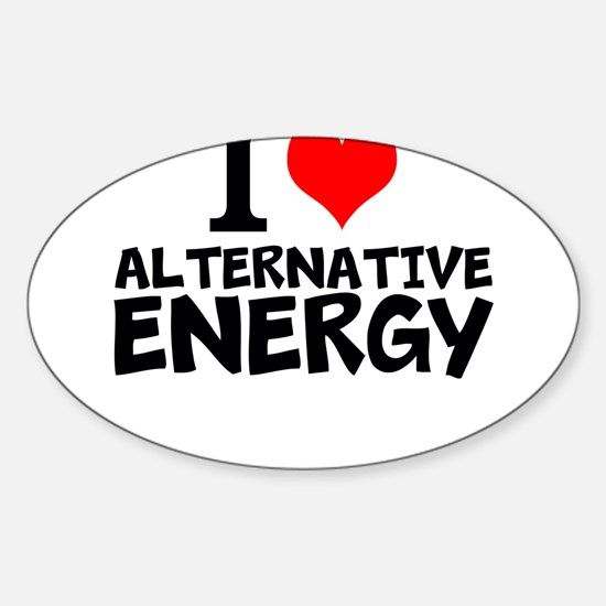 I Love Alternative Energy Decal