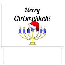 Merry Chrismukkah Menorah Yard Sign