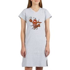 tow lobster file.png Women's Nightshirt