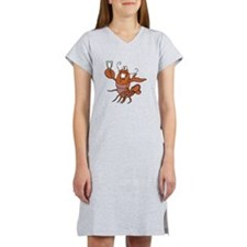 toasting wine lobster.png Women's Nightshirt
