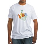baby duck in umbrella.png Fitted T-Shirt
