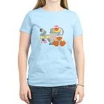 baby ducks and watering can.png Women's Light T-Sh