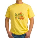 baby ducks and watering can.png Yellow T-Shirt