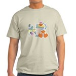 baby ducks and watering can.png Light T-Shirt