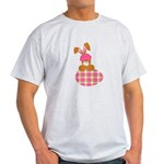 bunny with plaid egg.png Light T-Shirt