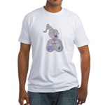 butteryfly kisses bear.png Fitted T-Shirt