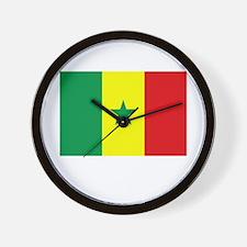 Senegal Flag Picture Wall Clock