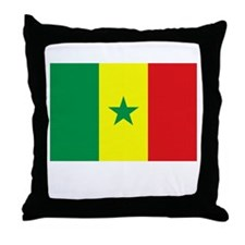 Senegal Flag Picture Throw Pillow