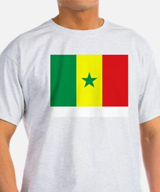Senegal Flag Picture Ash Grey T-Shirt