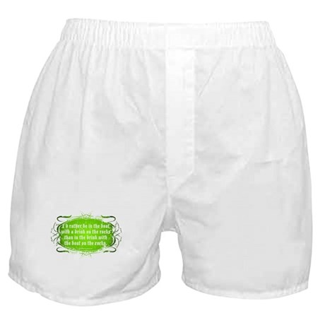 In The Boat, With A Drink Boxer Shorts