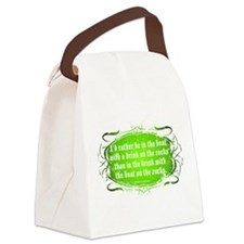 In The Boat, With A Drink Canvas Lunch Bag