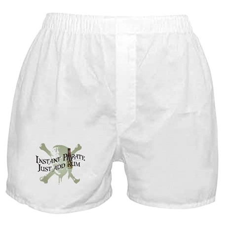 Instant Pirate-Just Add Rum Boxer Shorts