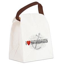 I Love Motorboatin Canvas Lunch Bag