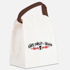 Dirt, Sweat + Gears Canvas Lunch Bag