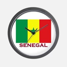 Senegal Flag Stuff Wall Clock