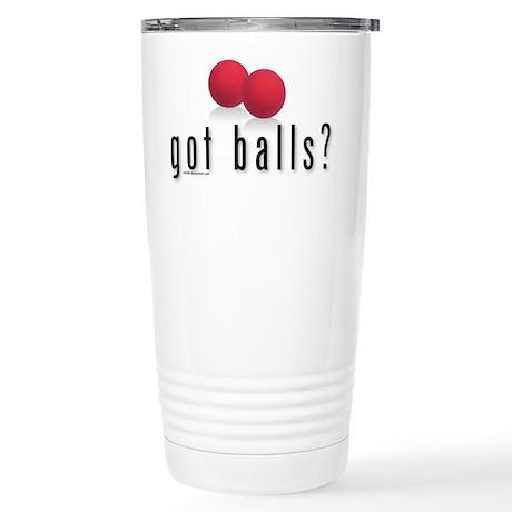 Got DodgeBalls? Stainless Steel Travel Mug