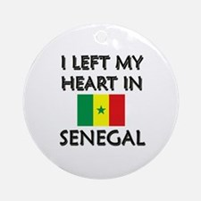 I Left My Heart In Senegal Ornament (Round)