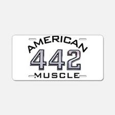 Olds 442 Aluminum License Plate
