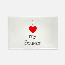 I Love My Bouvier Rectangle Magnet (10 pack)