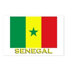 Senegal Flag Gear Postcards (Package of 8)