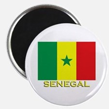 Senegal Flag Gear Magnet