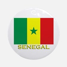 Senegal Flag Gear Ornament (Round)