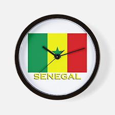Senegal Flag Gear Wall Clock