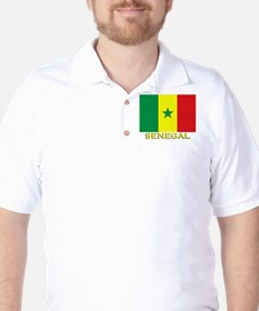 Senegal Flag Gear Golf Shirt