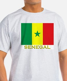 Senegal Flag Gear Ash Grey T-Shirt