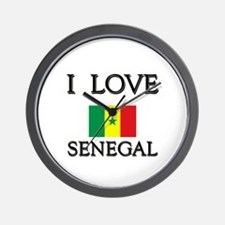 I Love Senegal Wall Clock