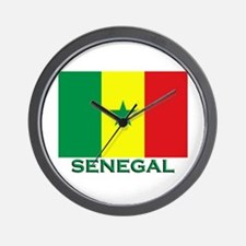 Senegal Flag Merchandise Wall Clock