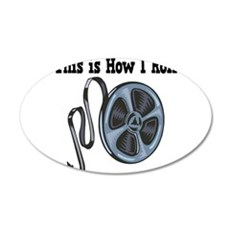 How I Roll Movie Film Tape.png Wall Sticker
