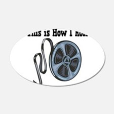 How I Roll Movie Film Tape.png Wall Decal