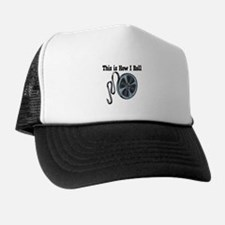 How I Roll Movie Film Tape.png Trucker Hat