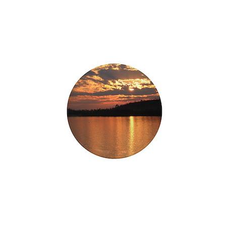 Cavity Lake Sunset Mini Button