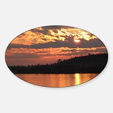 Cavity Lake Sunset Oval Decal