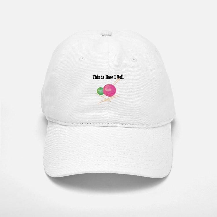 How I Roll Yarn.png Baseball Baseball Cap