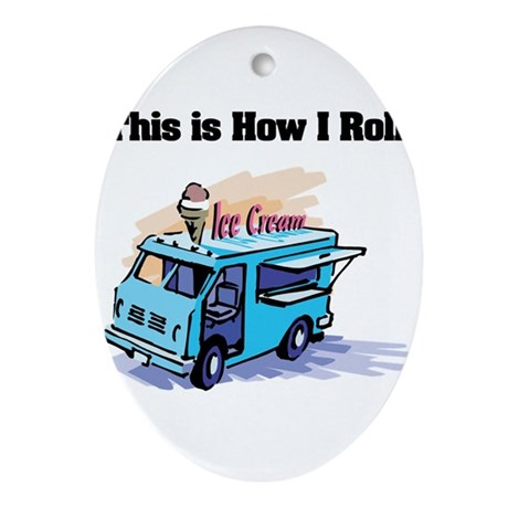 ice cream truck.png Ornament (Oval)