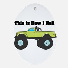 monster truck.png Ornament (Oval)
