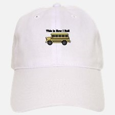 short yellow bus.png Baseball Baseball Cap