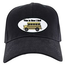 short yellow bus.png Baseball Hat