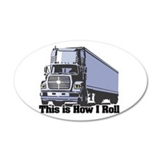 tractor trailer.png Wall Decal