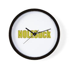 Funny Miami hurricanes Wall Clock