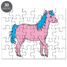 pink and blue horse.png Puzzle