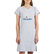 cute swimming piggy.png Women's Nightshirt