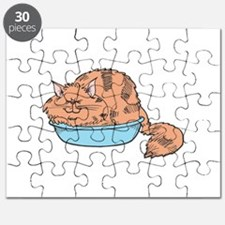 cat sleeping in bowl.psd Puzzle