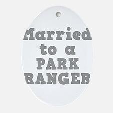 PARK RANGER.png Ornament (Oval)