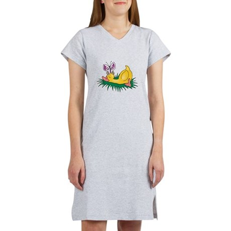 sleeping duck with butterfly.png Women's Nightshir