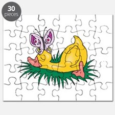 sleeping duck with butterfly.png Puzzle