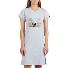 funny flamingo on vacation.png Women's Nightshirt